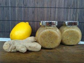 Имбирный чай с медом и лимоном (заготовка)