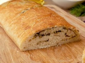Домашний хлеб с оливками и базиликом